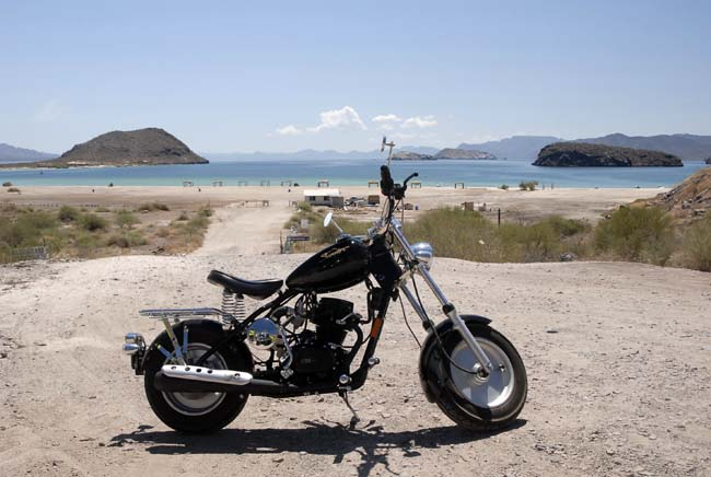 John's black Classic at the north end of Bahia Concepcion