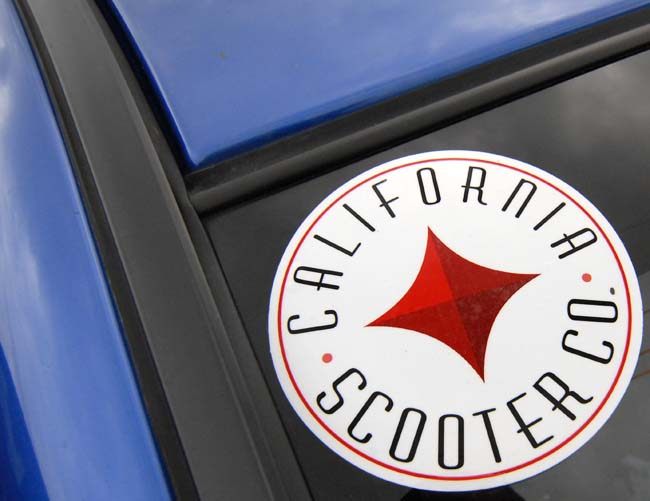 Want a decal?   Shoot me an email at jberk@californiascooterco.com and I'll one mailed to you!