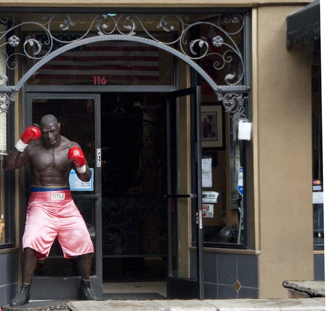 Somewhere along the way... a boxing club on Colorado Boulevard