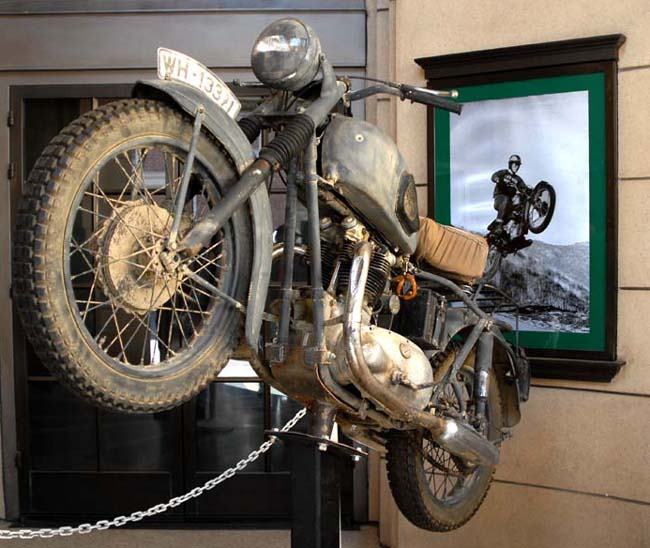 The real deal...the actual bike used in the chase and jump scenes in The Great Escape