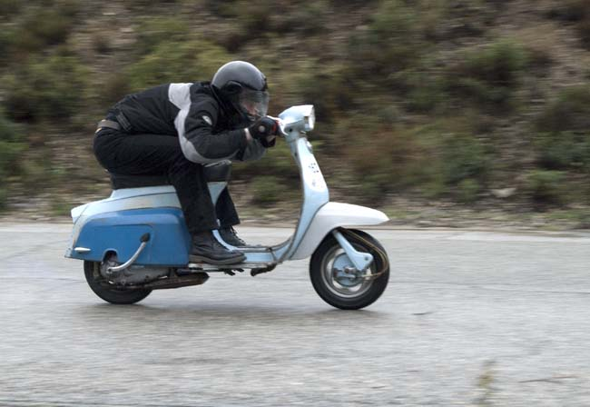 An older Lambretta