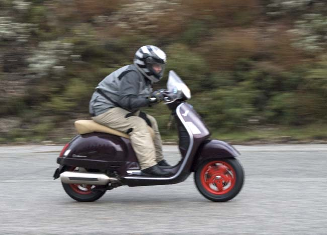 Another scooter at speed