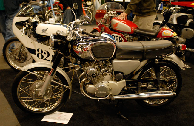A 1965 CB-160 Honda...my Dad's first motorcycle!