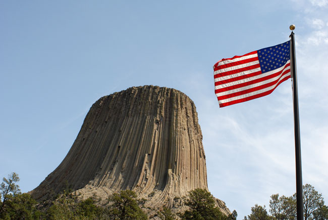 Perhaps a close encounter of the RX3 kind with Wyoming's Devil's Tower?