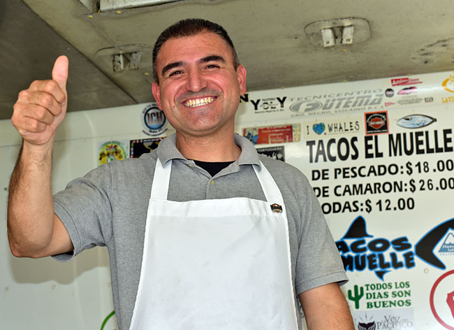 My good buddy Tony Lopez, who is a fish taco chef extraordinaire!