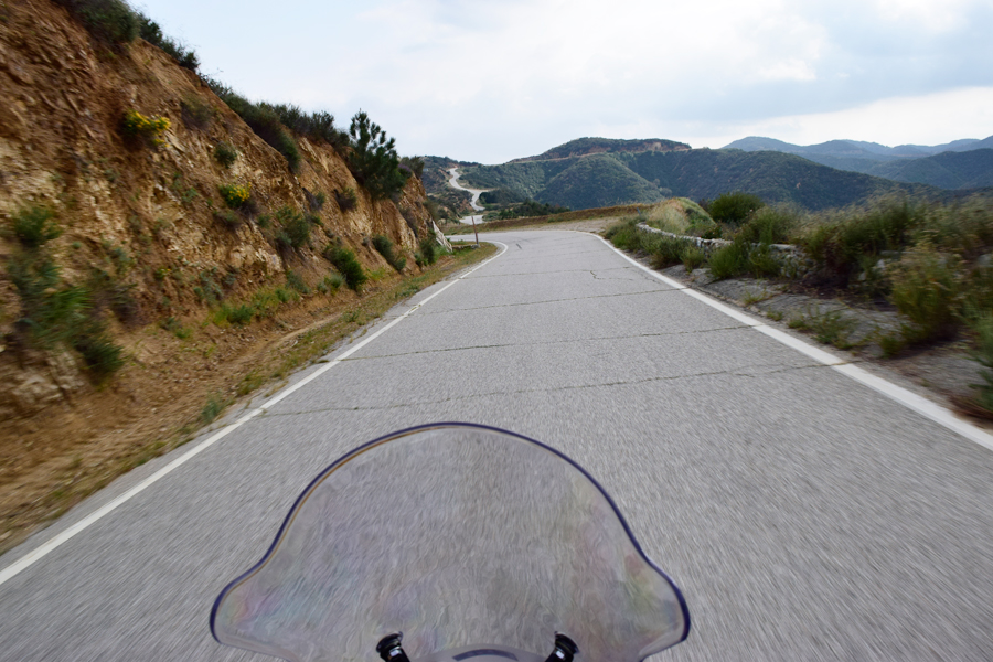 A view from the RX3 cockpit along Glendora Ridge Road.