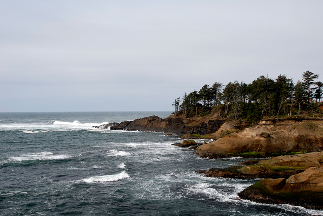 The Oregon Coast, just south of Tillamook
