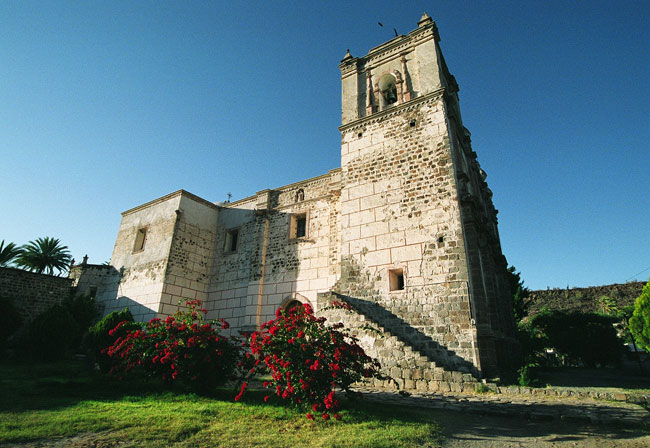 The Jesuit Mission built in 1728 in San Ignacio, still doing duty as an active church!
