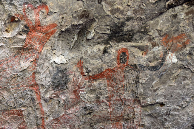 One on the cave paintings at Sierra San Francisco
