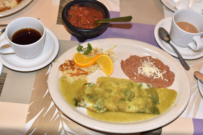 A typical Baja breakfast