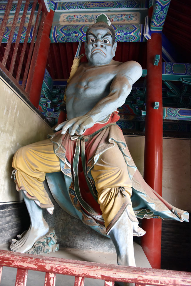 A figure inside the Shaolin Temple.  It's likely Bruce Lee saw these when he studied here.