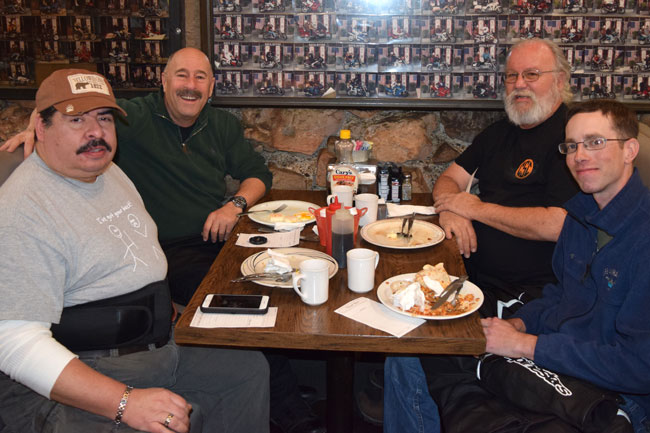 Richard, Joe, Duane, and Mike...a great Rock Store breakfast!