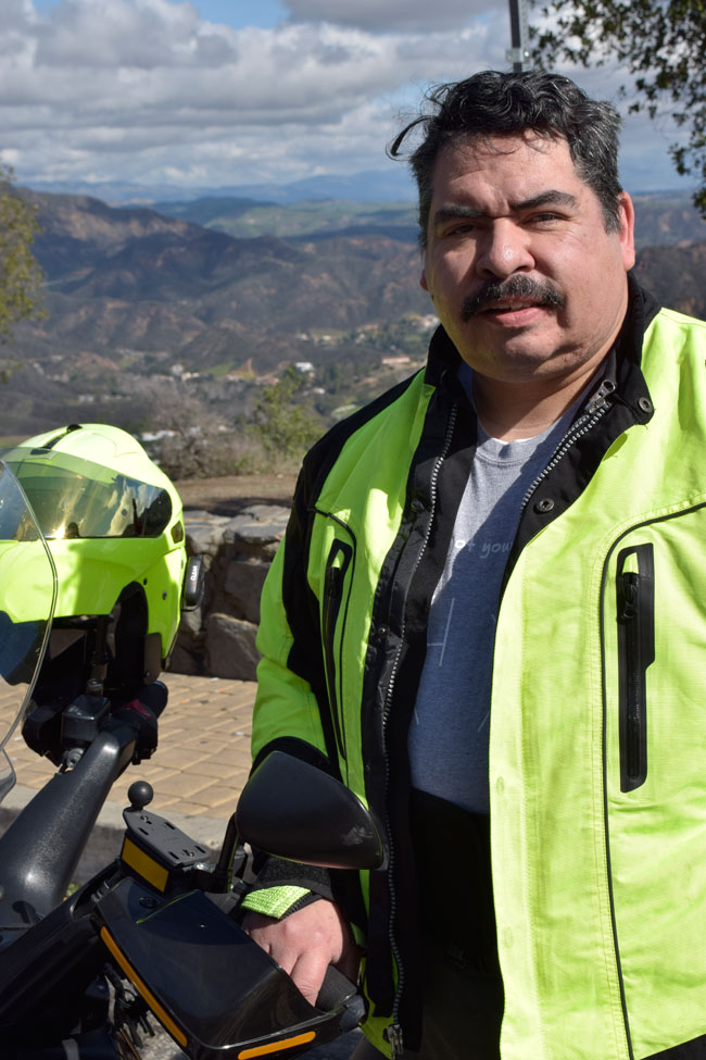 Our good friend Richard, an Iron Butt rider who rode along with us on a fine February day!