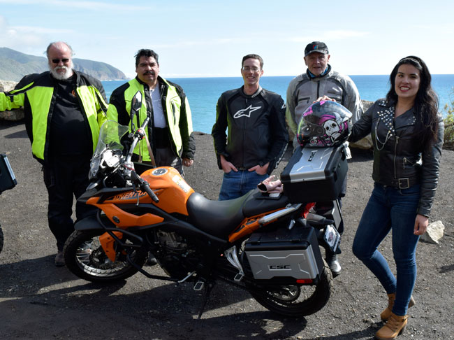 An orange RX3, a great bunch of riders, the PCH, and the Pacific Ocean.