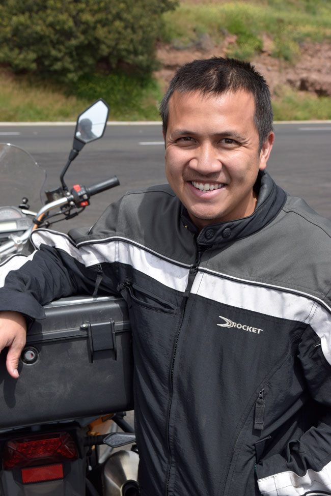 Tuan, who rides an RX3 (like everyone else on this trip), and who is a former student of mine at Cal Poly Pomona. Tuan is a mechanical engineer!