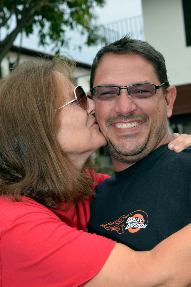 One more photo this evening, and it's of Chuck and Barb!