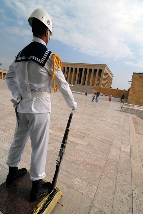Standing guard in Ankara, Turkey