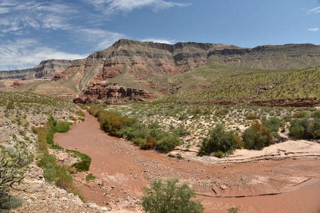 The Virgin River Gorge in Arizona, just south of St. George, Utah