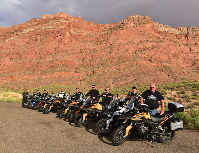CSC riders enroute to the Grand Canyon in 2015. We'll stop at this exact spot on the Destinations Deal Tour for one of many group photos!
