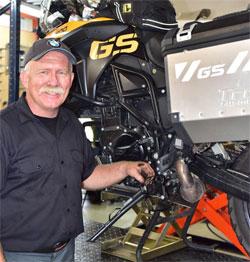 Gerry Edwards, motorcycle maestro.