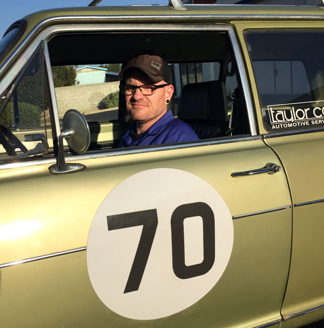 Mike, in his 47-year old Autocross Opel